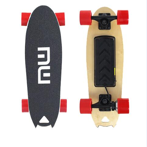 Wholesale 58 cm 18 km/h cheap 2 wheels electric skateboard with 70 mm PU wheels