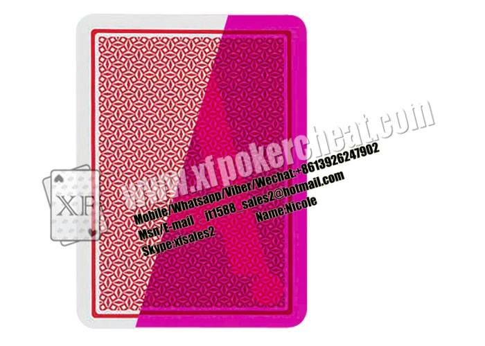 Gambling Red / Blue Spain Fournier Playing Cards With Invisible Ink