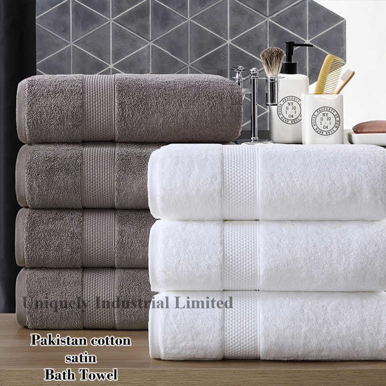 Cotton satin bath towel bigger and thickening