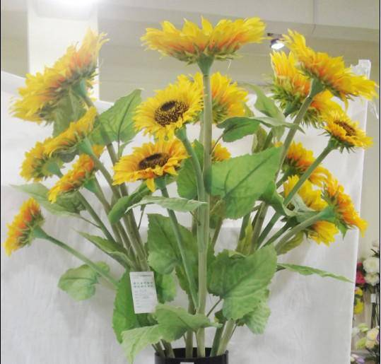 artificial sunflower(with many heads bonque)