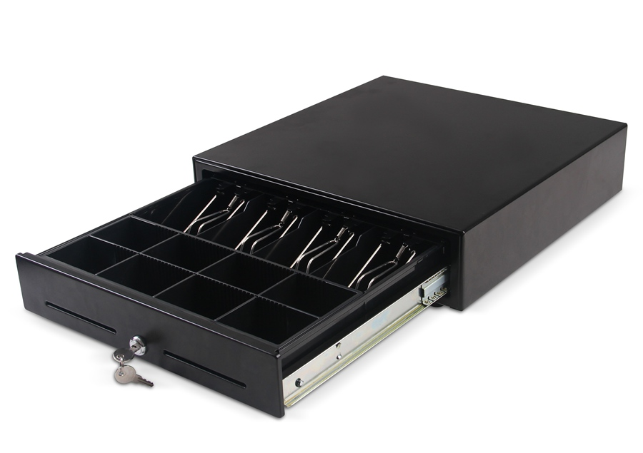 KST-410S Black Standard Slide Cash Drawer