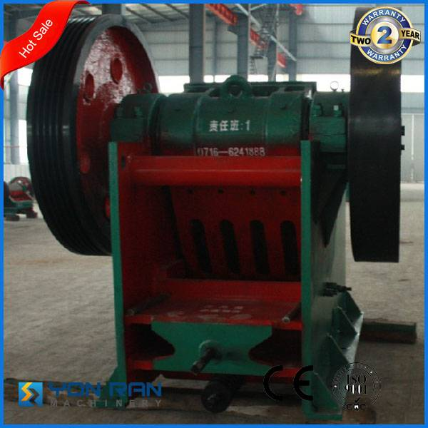 Guangzhou factory price PE400*600 quartz stone crushing machine jaw crusher