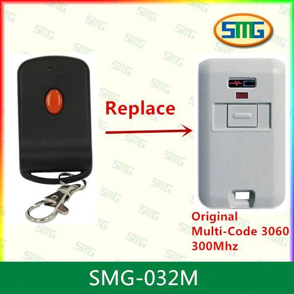 Compatible with Multi code 3060 300mhz garage door remote control