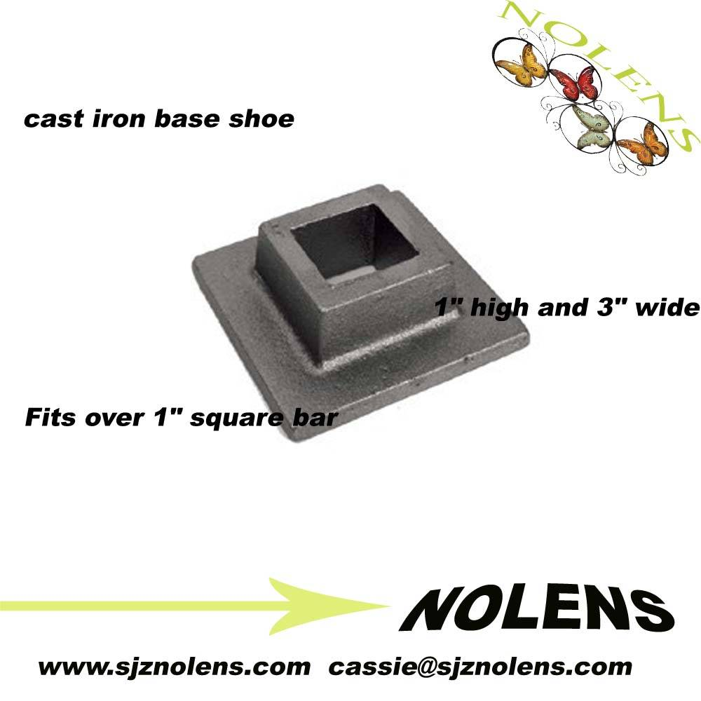"""cast iron base shoe for square bar is 1"""" high and 3"""" wide"""