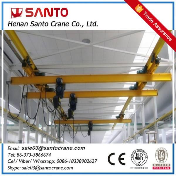 Light duty lx model underslung eot overhead bridge crane