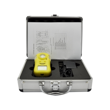 portable gas alarming detector with rechargeable battery
