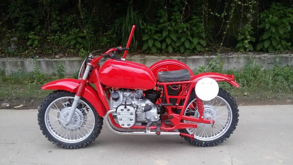 CJ750CC Motorcycle with sidecar(red)