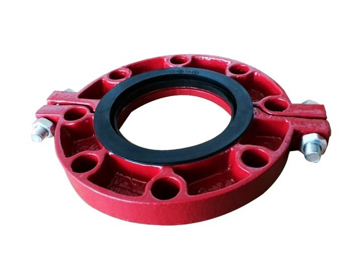 ChinaFM UL cUL approved ductile iron grooved coupling and pipe fitting flange
