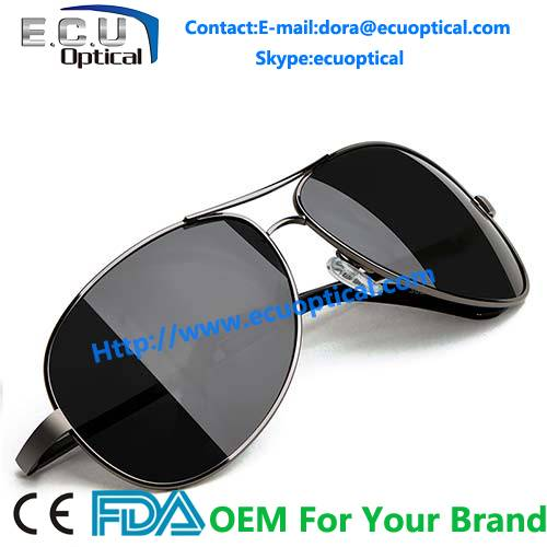 Wholesale 2014 Latest Man and Women Polarized Aviator Mirror Sunglasses