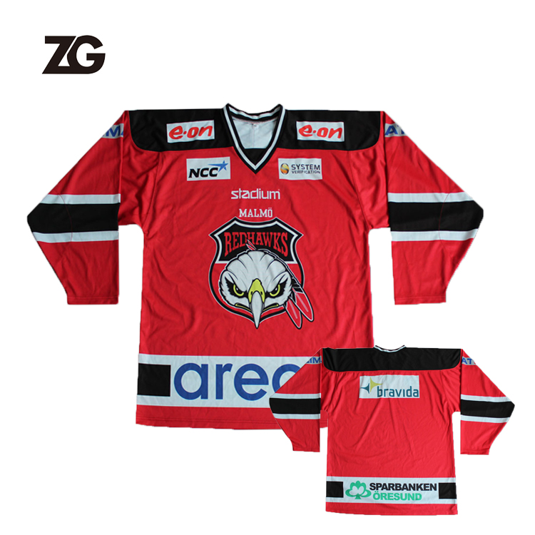 High Quality Cheap Custom Sublimation Ice Hockey Jersey All Over Printing Hockey Wear For Teams