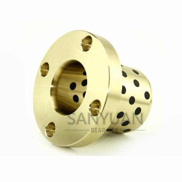 Copper Nut Guide Bushing Friction Bearing Brass Nut Mold Parts With Graphite
