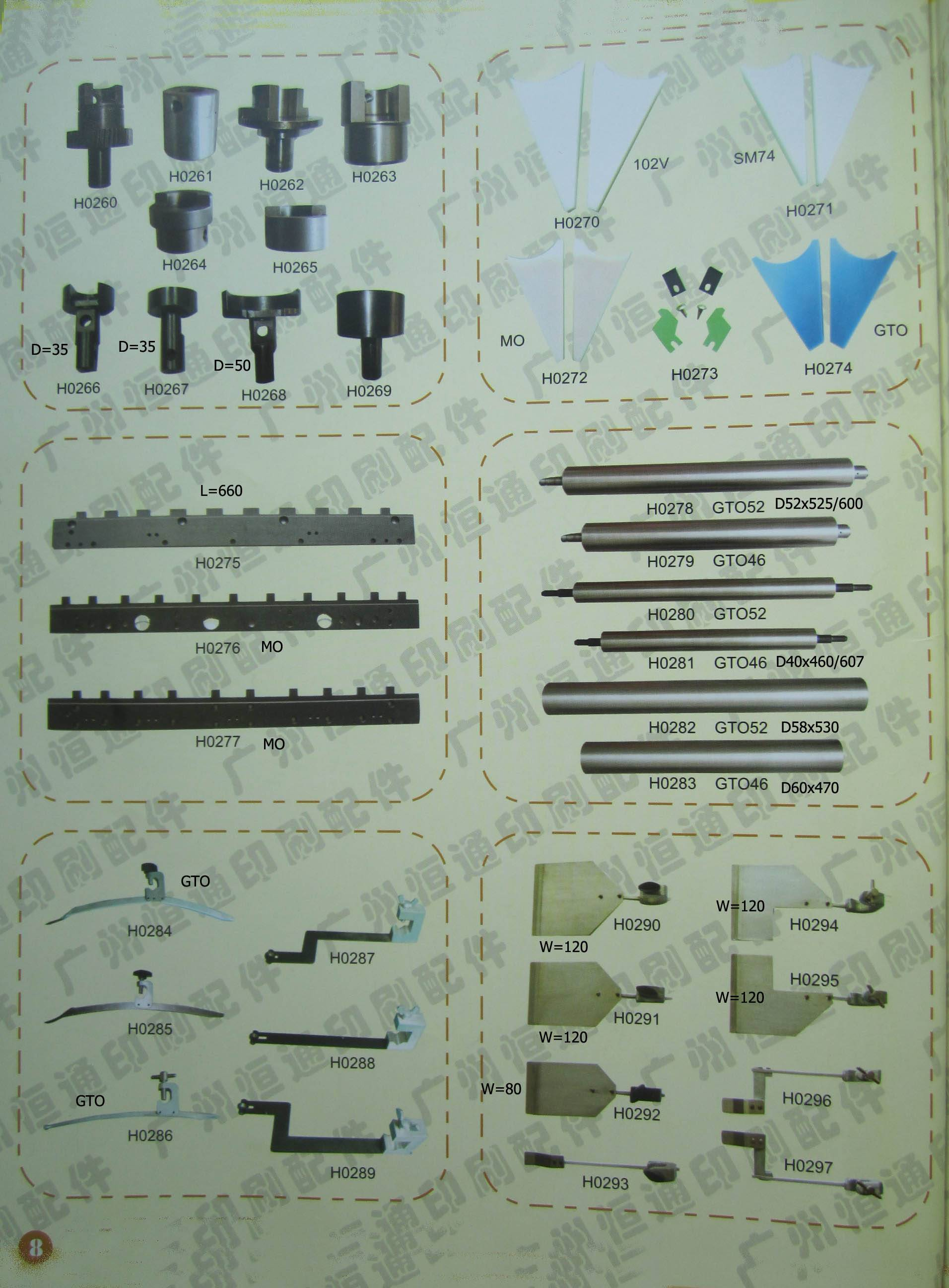 4-colour heidelberg offset printing machine spare part