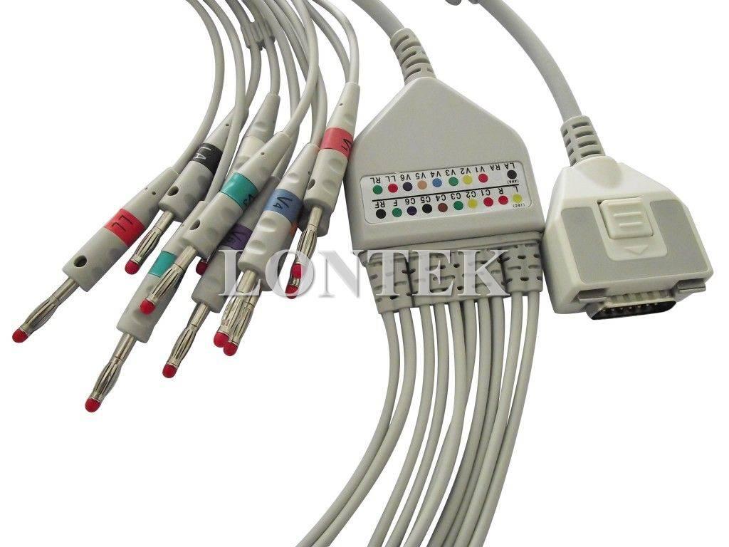 Fukuda Denshi one piece 10 lead ECG cable