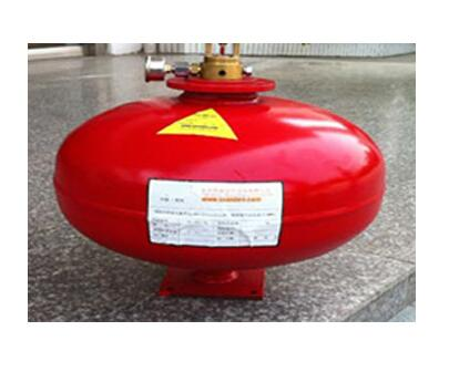 Temperature controlled hanging heptafluoropropane(HFC-227ea) fire extinguishing device