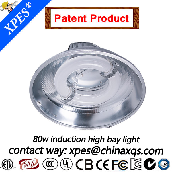 zero-maintenance soft light induction lamp industrial lighting for warehouse factory workshop