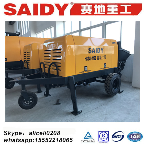 trailer and portable concrete delivery machine