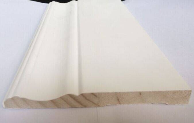 Primed F/J pine baseboard