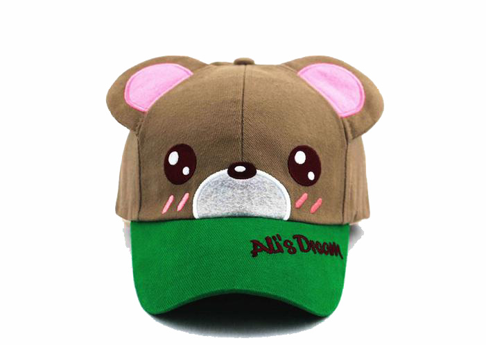 little bear patch of embroidered leisure children ear cap