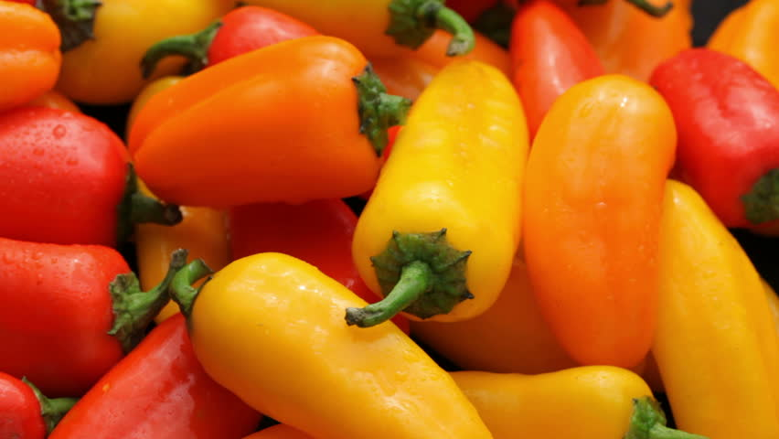 Fresh Tomatoes, Garlic, Onion And Fresh Pepper