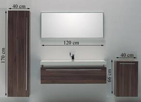 Modern High-End Oak Bath Cabinet Unit Design New Style Bathroom Furniture-M1200