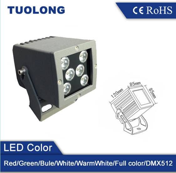 led flood light 6*3W 18W IP65