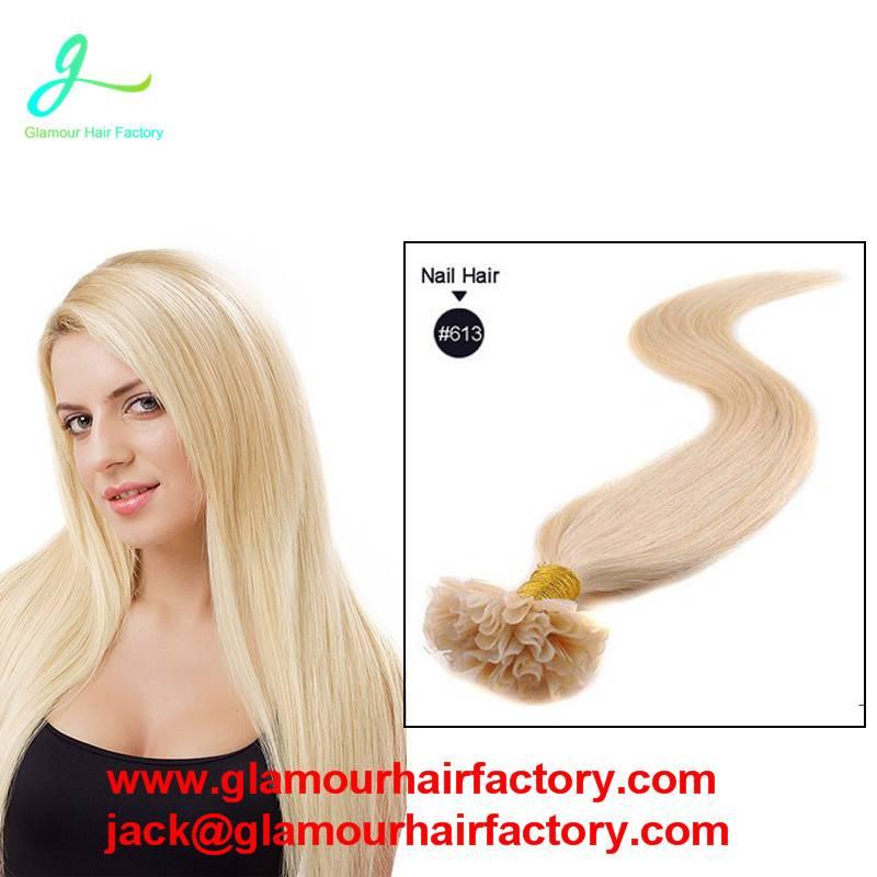 Straight U Tip Keratin Human Hair Extension Fusion Hair Extensions Keratin Pre bonded Hair Extension