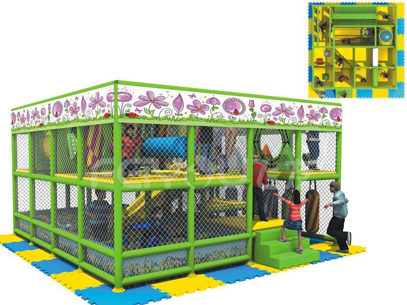 Kids plastic cheap multifunction naughty castle