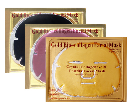 24K Gold Collagen Facial Mask - Anti Aging, Wrinkles, Moisturising, Blemishes, Firming, Toning, Dark