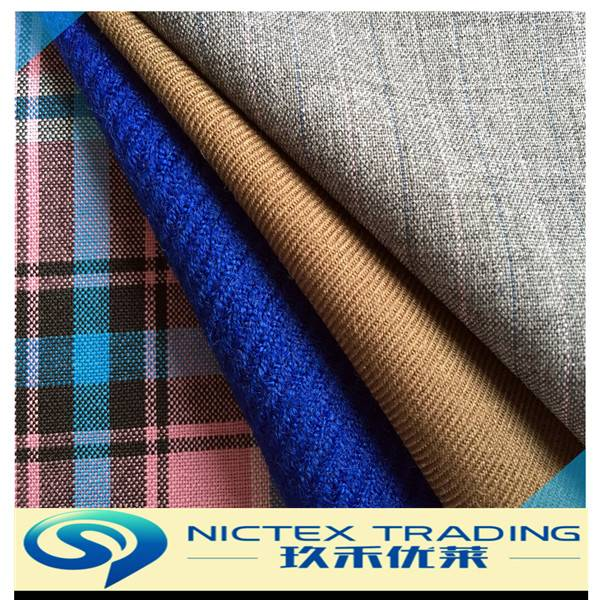 blended wool polyester suit serge/tartan/stripe/check/plaid fabric