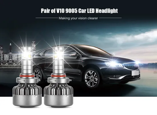 All in One Design V10 40W 4000lm Car H4 H13h7 H8 H9 H11 Hight/LED Low Beam Headlight Bulbs