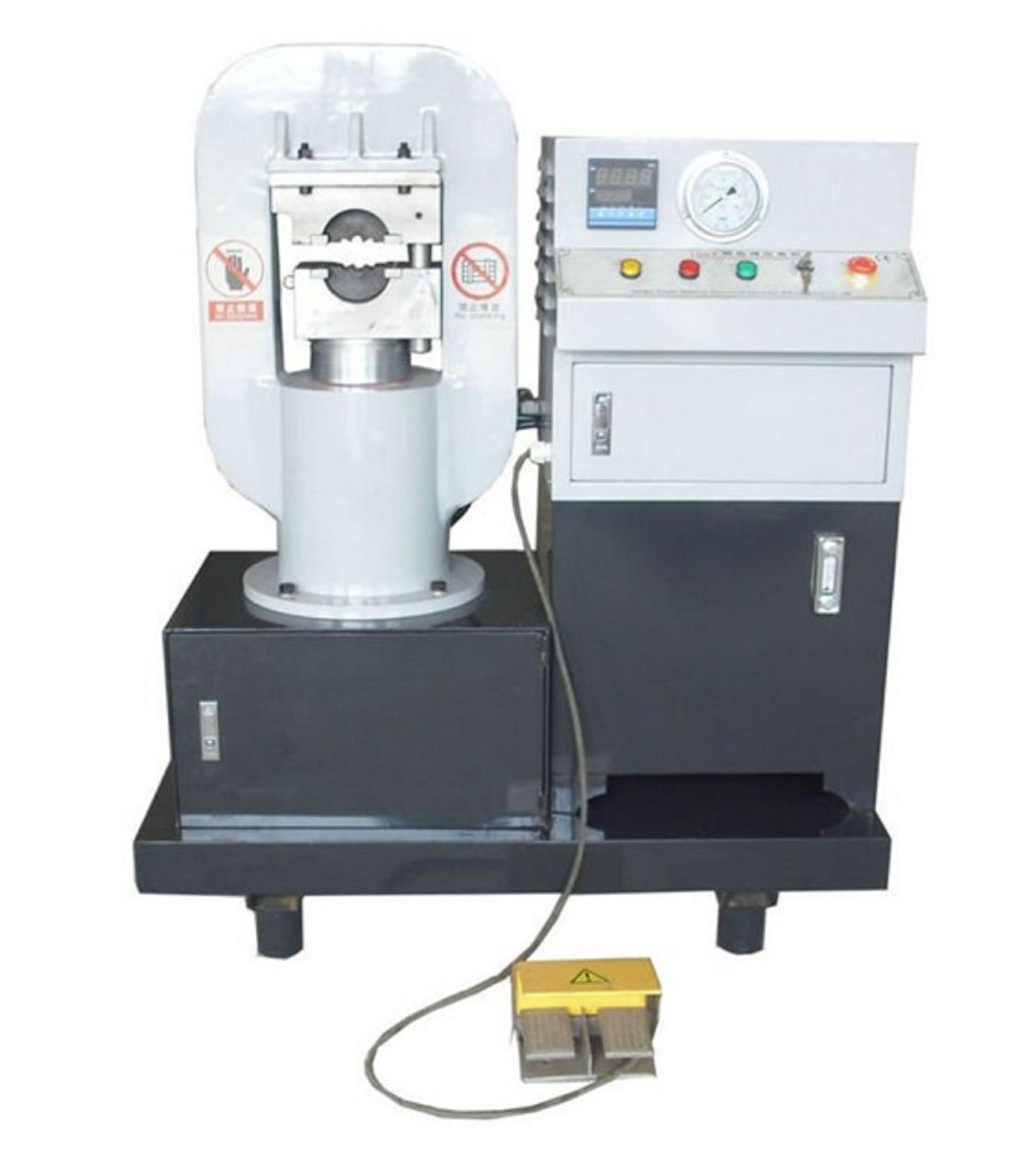Steel wire rope crimping/pressing machine