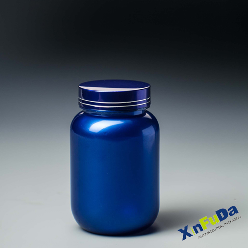 pharma solid tablets bottle and container with metal cap
