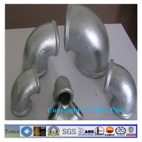 GALVANIZED 90 DEGREE ELBOW MALLEABLE IRON