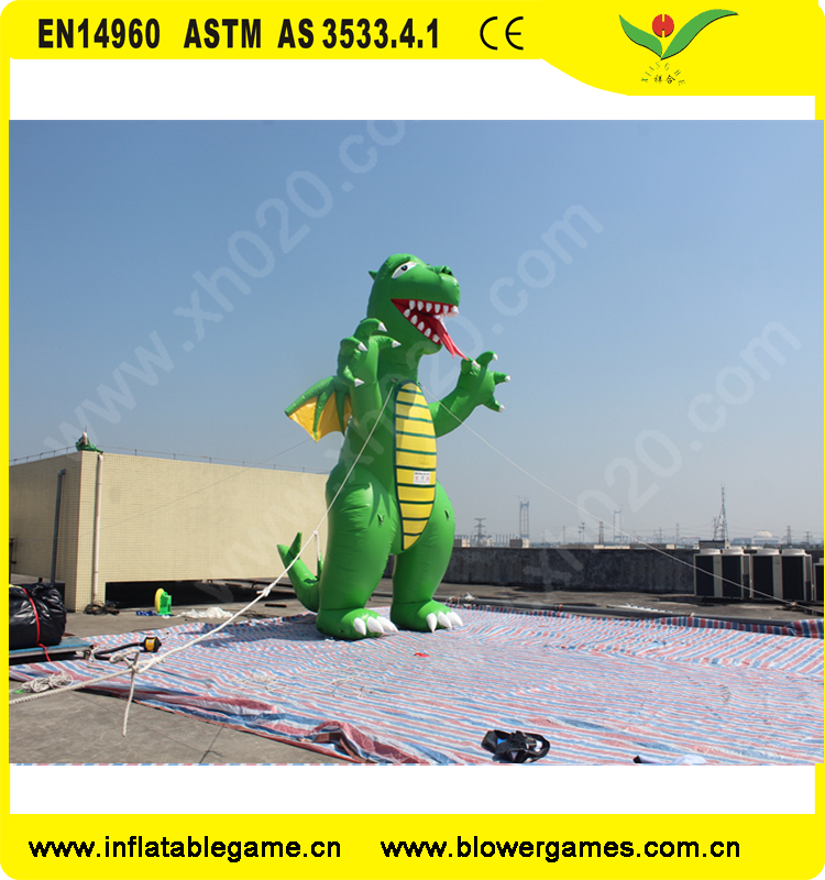 Giant advertising cartoon inflatable dinosaur