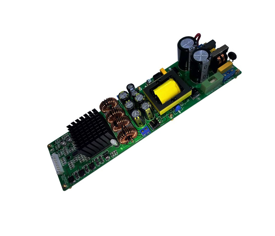 2Channel Class D +SMPS 200W Pro Audio Amplifier Module Intergrated with Compressor