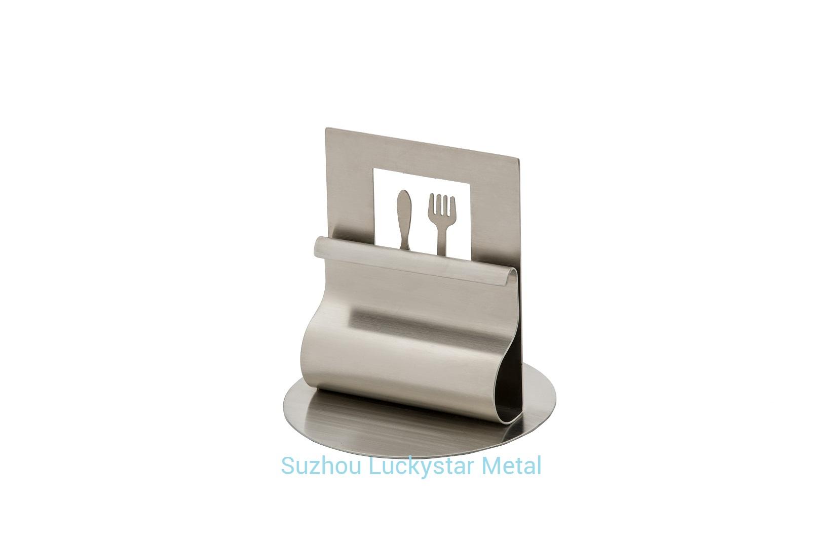 Stainless Steel Menu Card Holder R003
