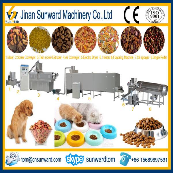Double Screws Cat Food Extruder Machinery