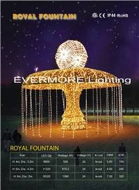 Motif light Royal Fountain