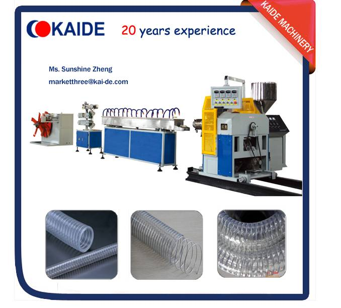 PVC steel wire reinforced hose making machine KAIDE