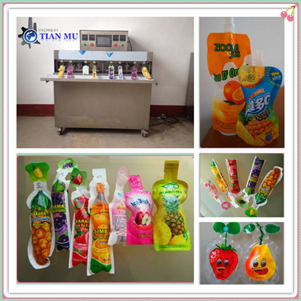 fruit juice soft drink in forming bag packing machine