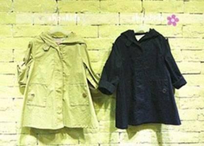 Roll-sleeve hooded Coat for Children