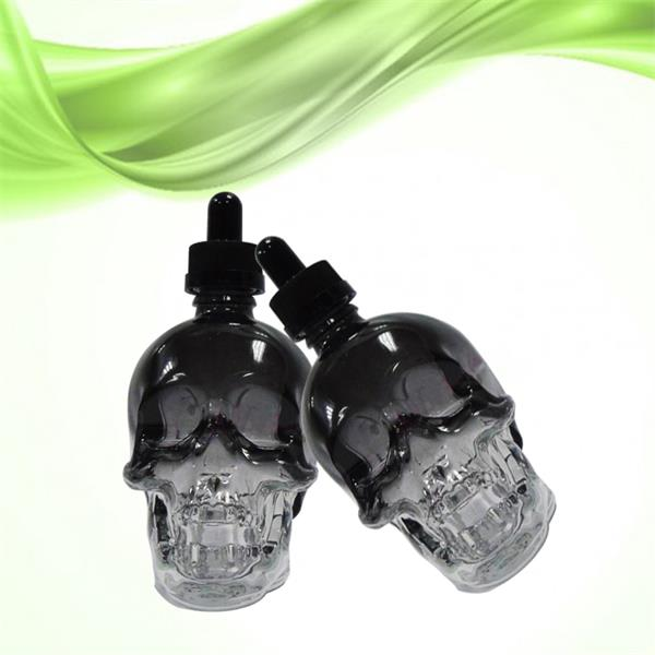 Skull glass dropper bottle supplier from China