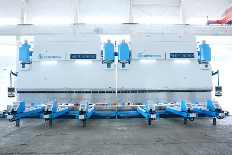 CNC hydraulic press brake 2-Tandem 1000T6000 ESA S550PC for sheet metal fabrication