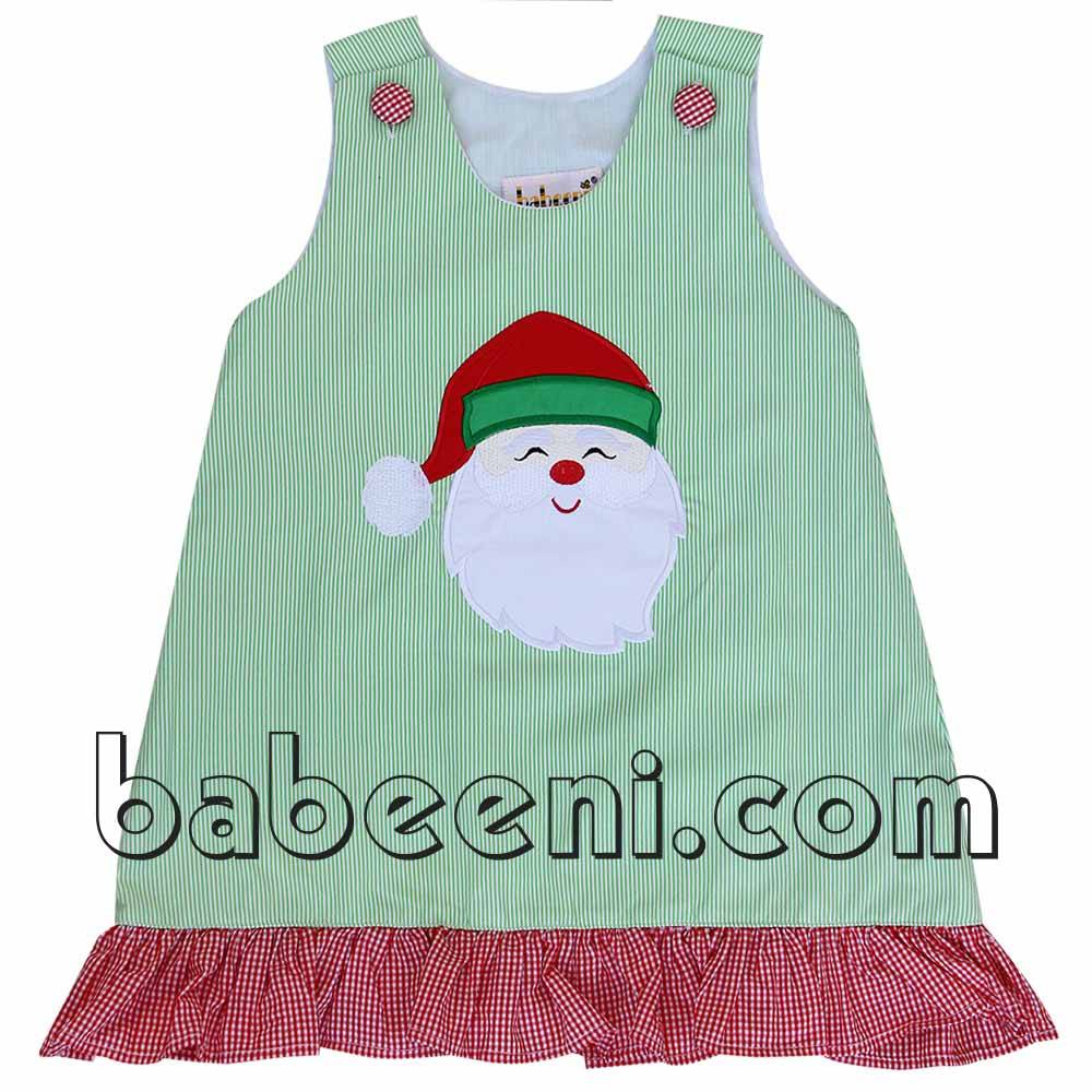 Cute Santa Claus applique A-line dress for baby girl - DR 2160