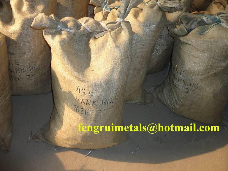 50kg per gunny bag galvanized umbrella roofing nails