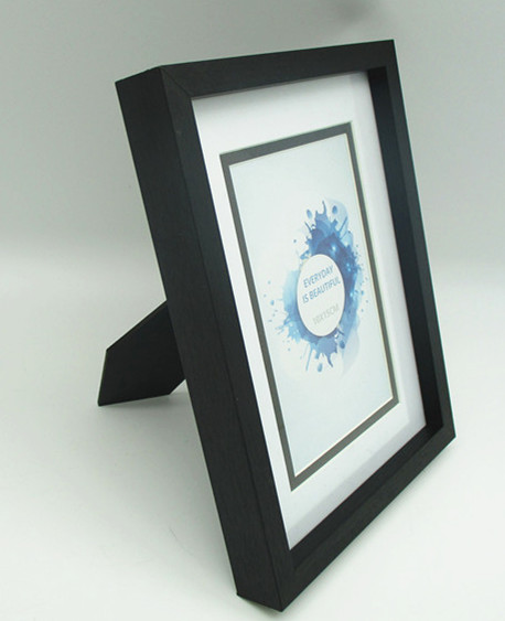 new basic black and white MDF/wooden photo frame, for tabletop use