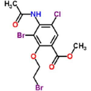 Methyl 4-(acetylamino)-3-bromo-2-(2-bromoethoxy)-5-chlorobenzoate (CAS 748788-39-8)