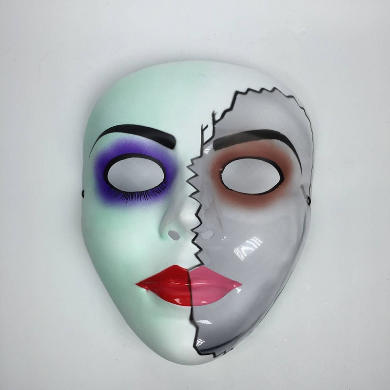 X-MERRY Toy Halloween Half Face Plastic Hand Painting Masks Hot Sale High Quality Masquerade Mask