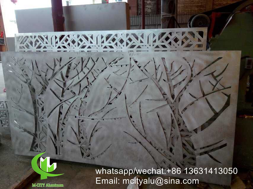 Tree aluminum hollow carving sheet for decoration