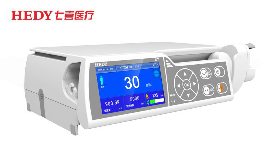 HEDY Accuracy Safety Small Medical ICU Syringe Pump With Anti-Bolus